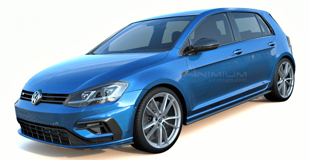 Volkswagen Golf 7R 3d model