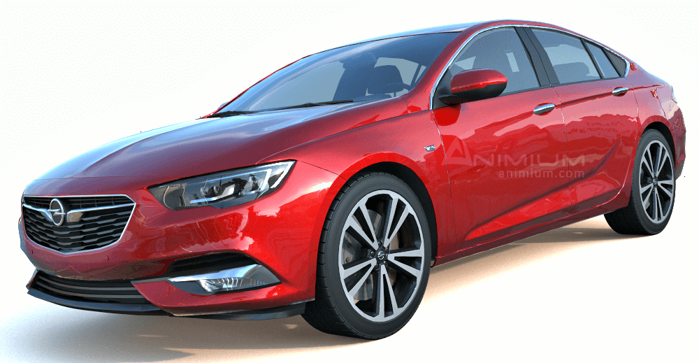 2018 Opel Insignia 3d model