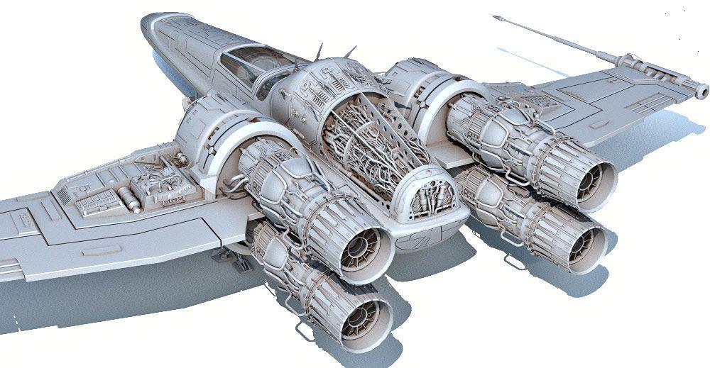 Headhunter spaceship 3d model