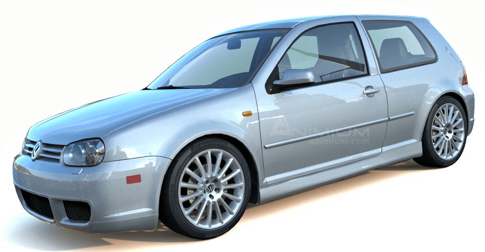 Volkswagen Golf 4 3d model