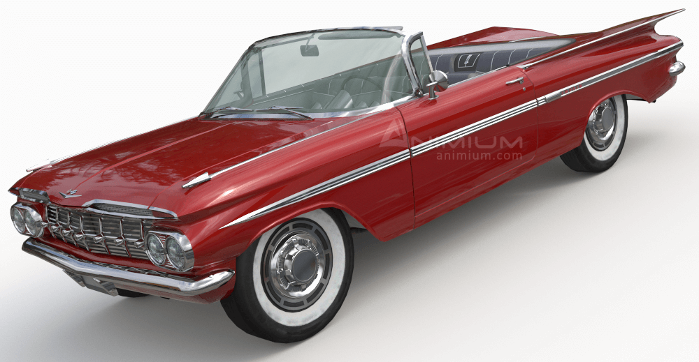 1959 Chevrolet Impala 3d model