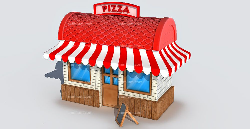 Pizza Shop 3d model