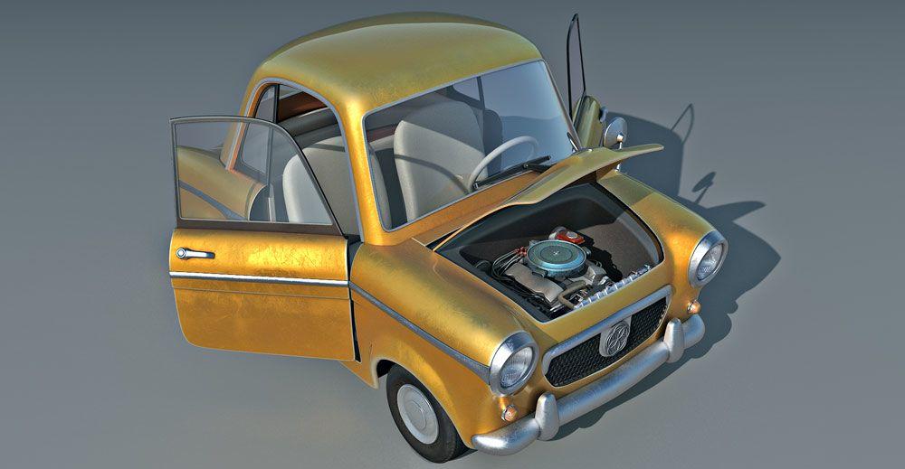 Cartoon Car 3d model1