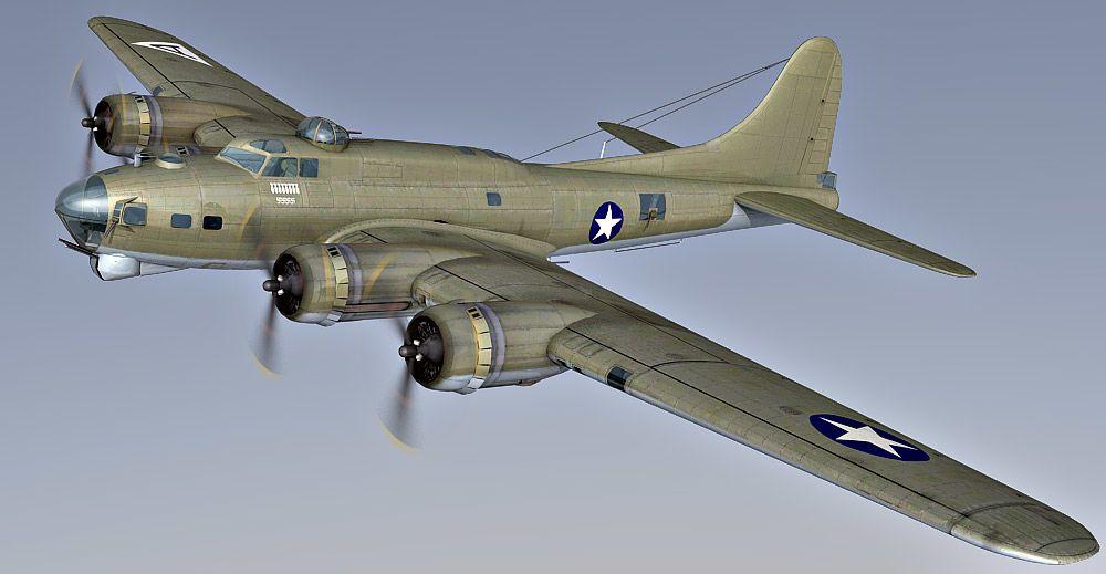 B-17 Flying Fortress 3d model