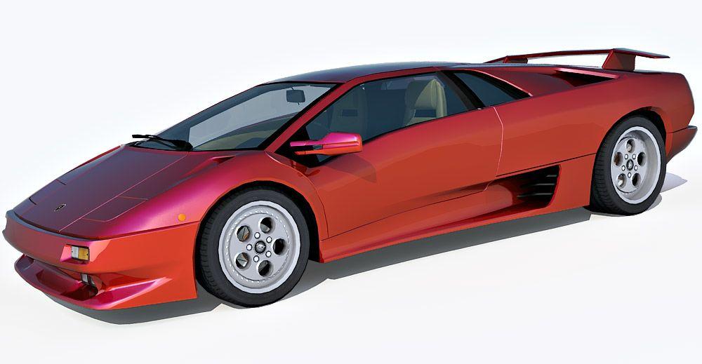 1995 Lamborghini Diablo 3d model