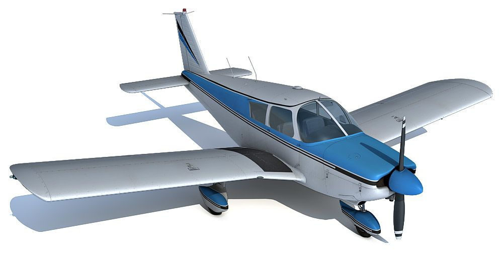 Piper PA-28 180 Cherokee 3d model