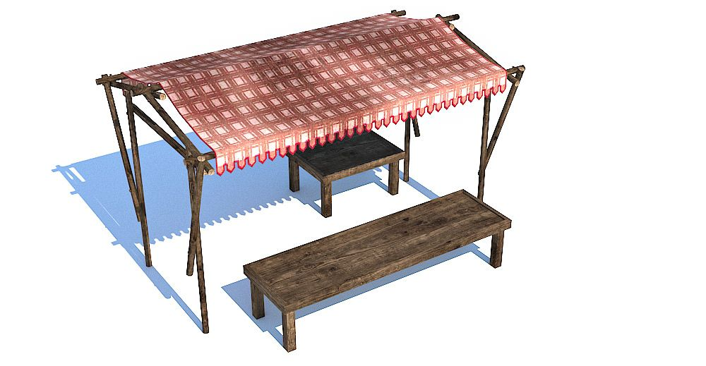 Medieval stall 3d model