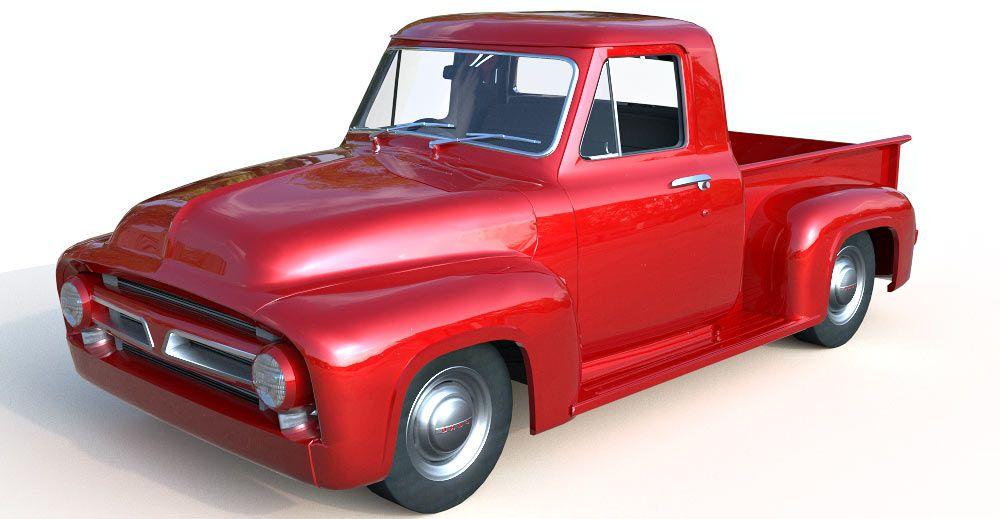 1956 Ford F100 3d model