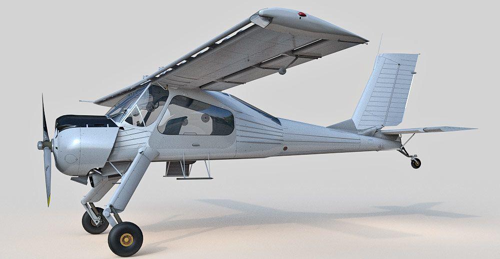 PZL Wilga 3d model