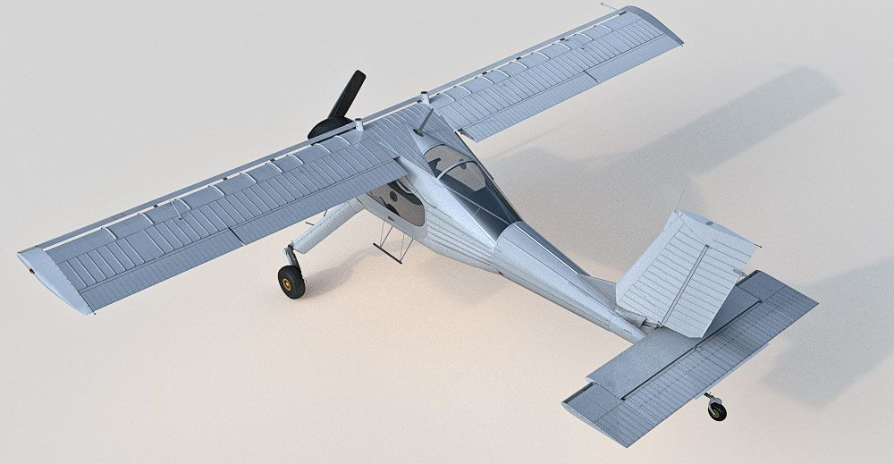 PZL Wilga 3d model