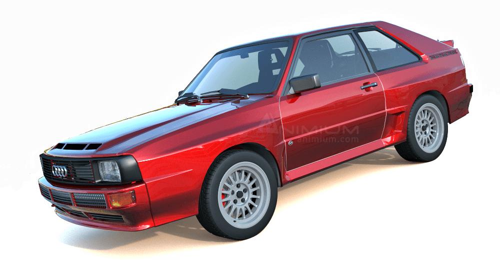 1984 Audi Quattro 3d model