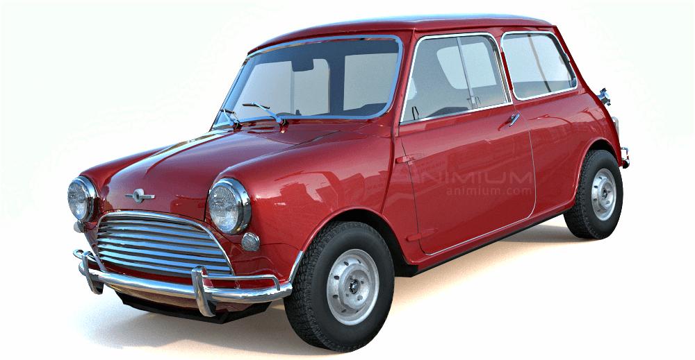 1965 Mini Cooper S 3d model