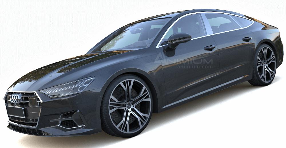 2020 Audi A7 3d model