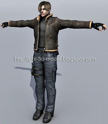 Leon Scott Kennedy 3d model