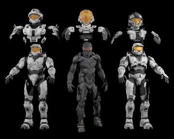 Halo Spartan 3d model