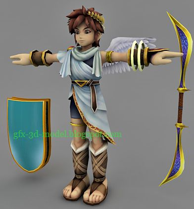 Game Character 3d model