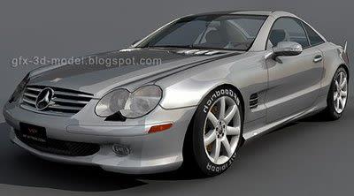 Mercedes Benz SL500 3d model