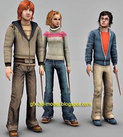 Harry Potter 3d models