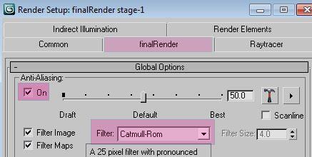 render filter
