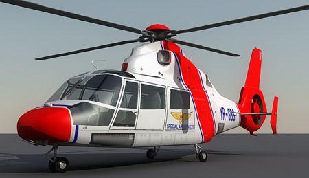 Eurocopter AS365 Dauphin 3d model