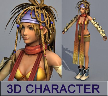 3D lowpoly Character model