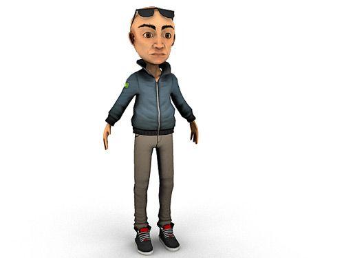 Old Man Cartoon Character 3d model