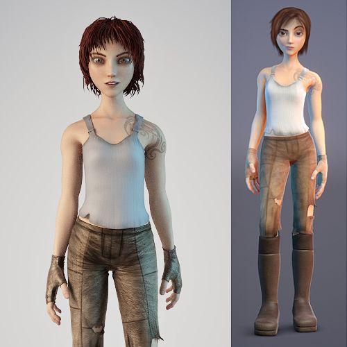 Sintel 3d Character model