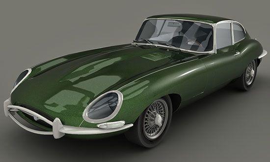 Jaguar etype 3d model
