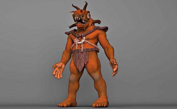Chained Monster 3d model