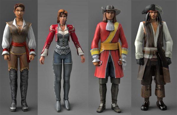 Low poly 3d character pack