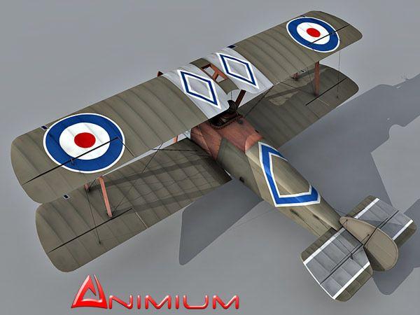 Sopwith Camel biplane 3d model