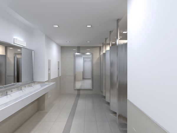 3d Bathroom and Toilet