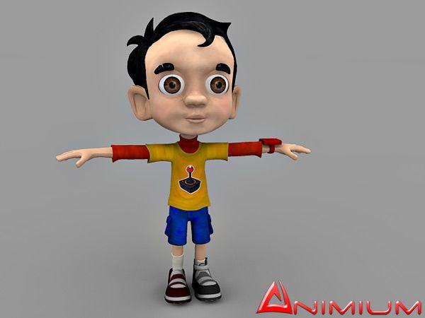 Little Boy 3d character model