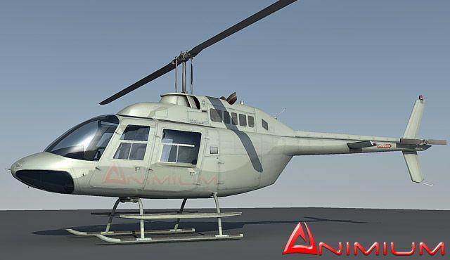 Bell 206 Jet ranger helicopter 3d model