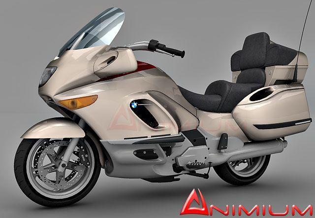 BMW K1200LT Bike 3d model