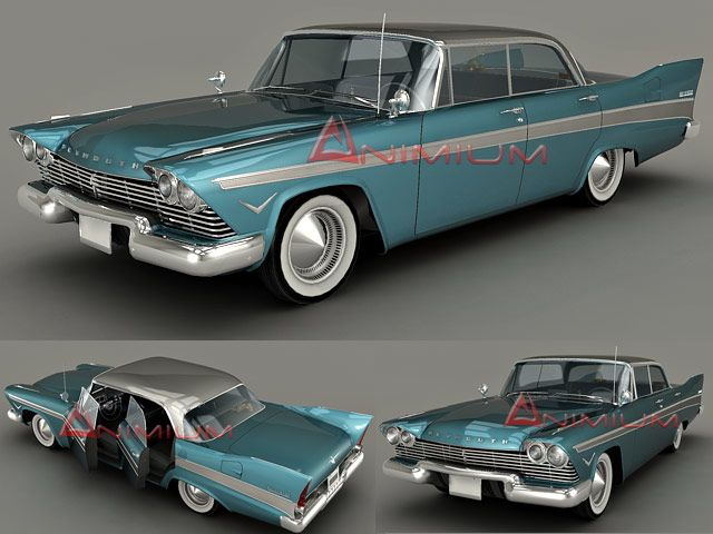 1957 Plymouth Belvedere 3d model
