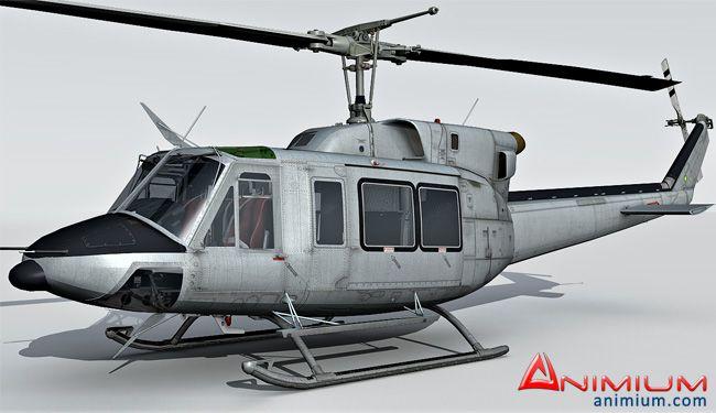 Bell UH-1N 3d model