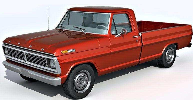 Ford F100 3d model