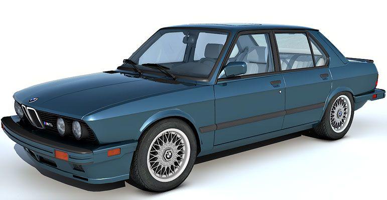 1985 BMW M5 3d model