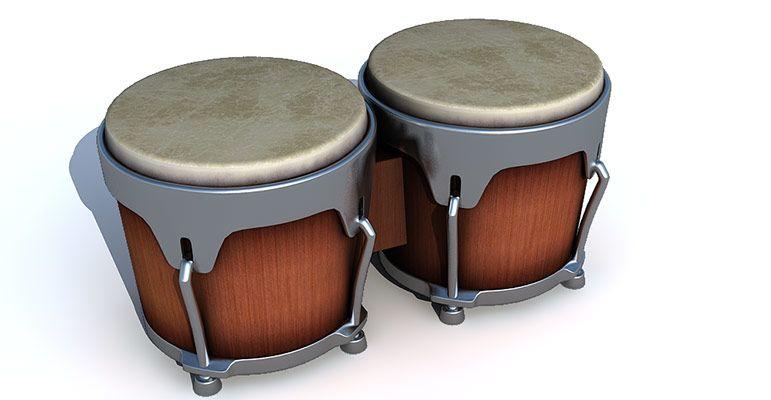 Bongo Drums 3d model