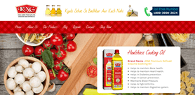 KNG Agro Food Oil Manufacturer Website