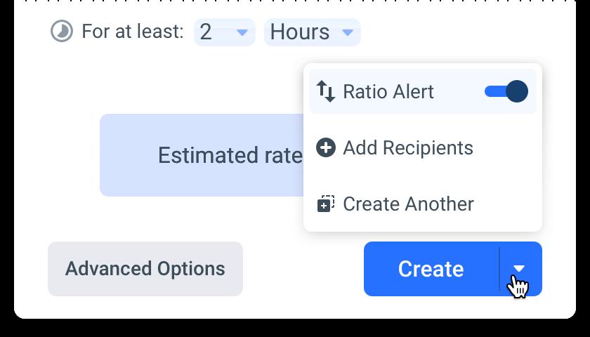 Anodot ratio alert