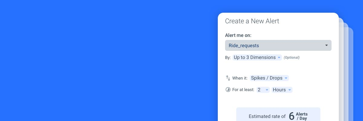 Creating alerts on Anodot