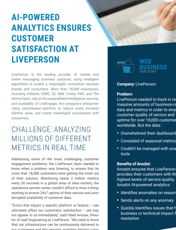AI-powered Analytics Ensures Customer Satisfaction at LivePerson