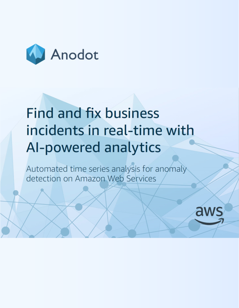EBOOK: Find and fix business incidents in real-time with AI-powered analytics image