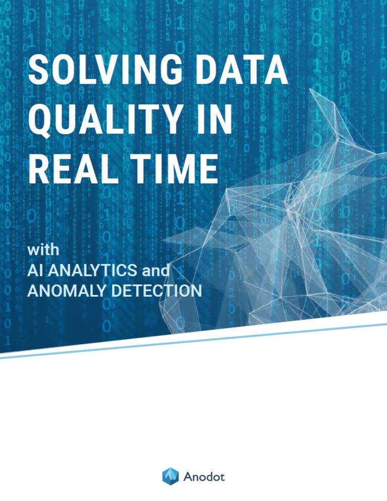 EBOOK: Solving Data Quality in Real Time with AI Analytics and Anomaly Detection image