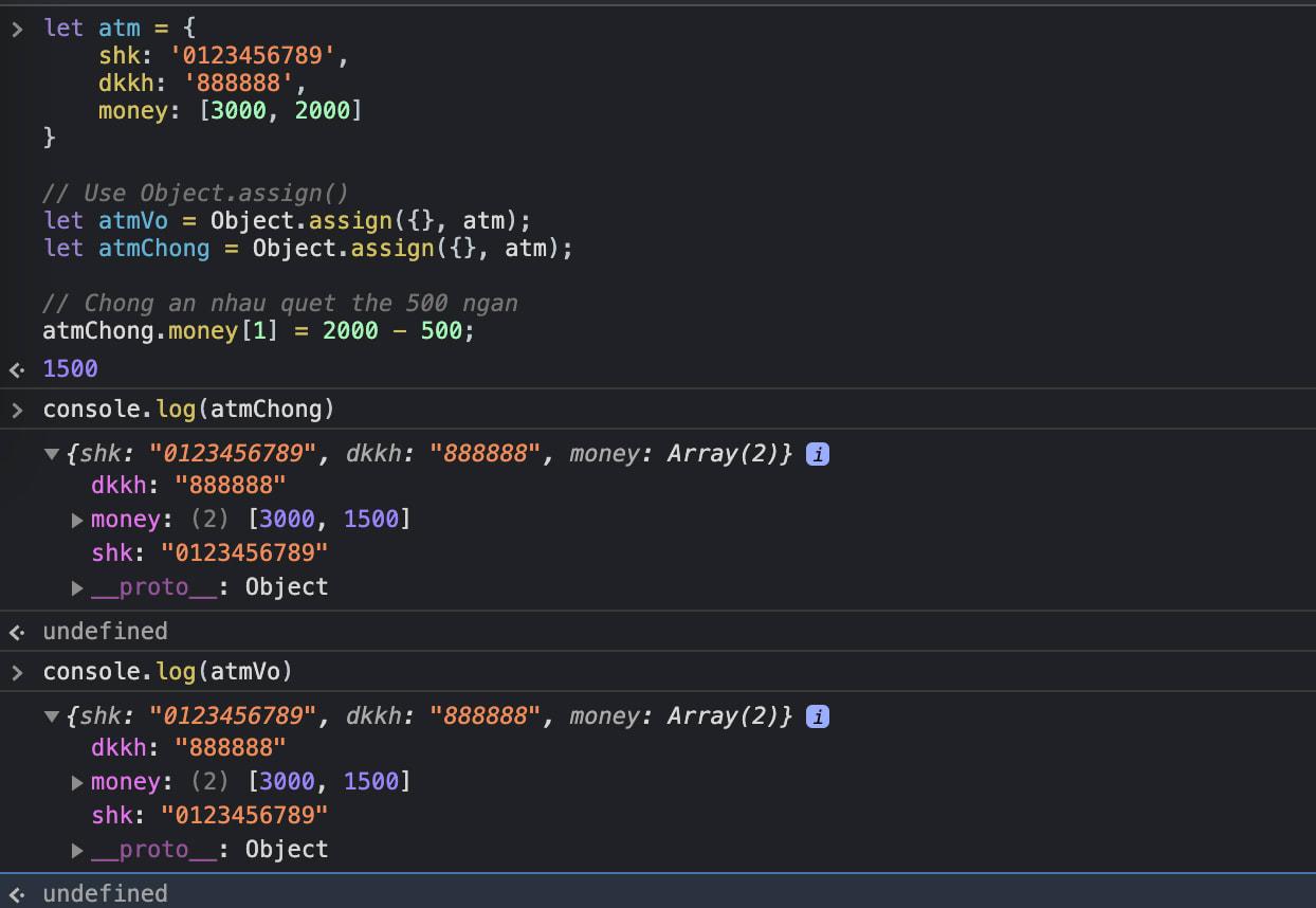 Shallow copy array javascript