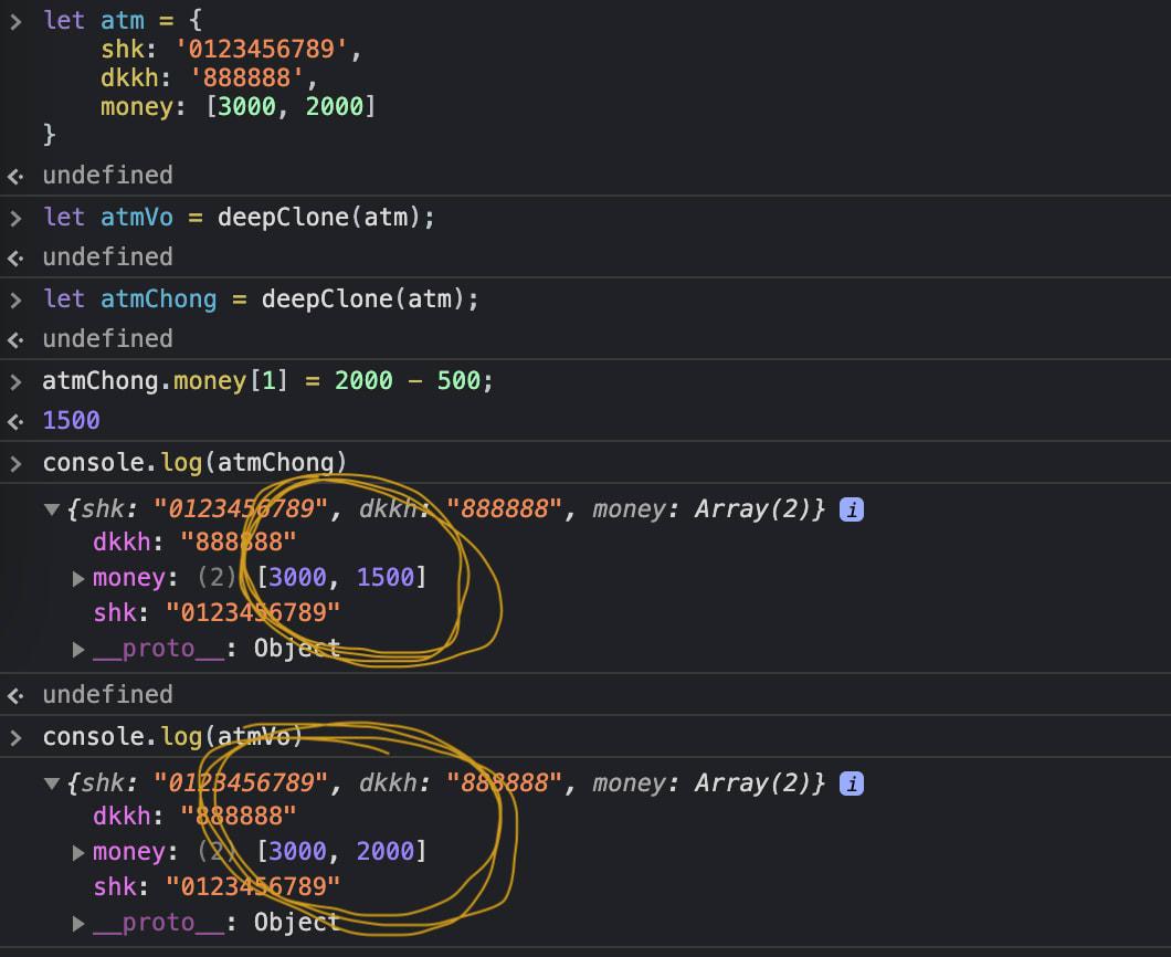 Deep copy object javascript