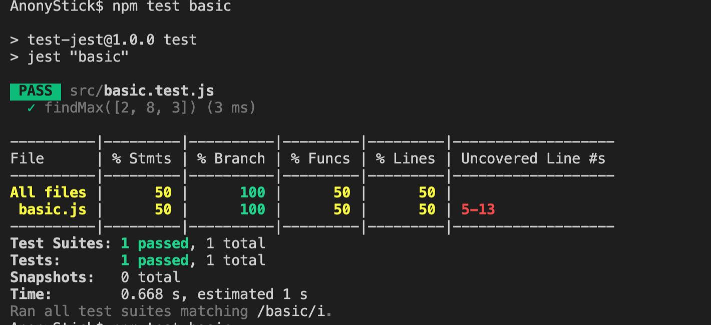 unit test nodejs with jest