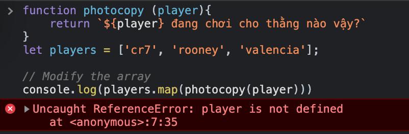 Lỗi phổ biến khi sử dụng name function javascript